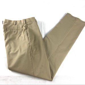 Roundtree & Yorke Flat Front Khakis Pants 34x36
